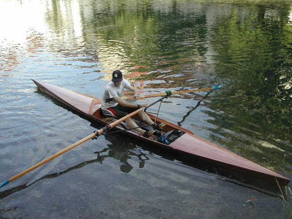 Home built rowing shell