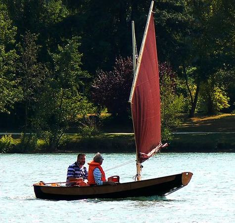 A great family day out in a home made Passagemaker sailing boat