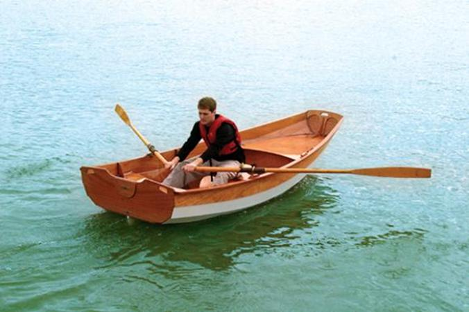 A home built Passagemaker rowing boat