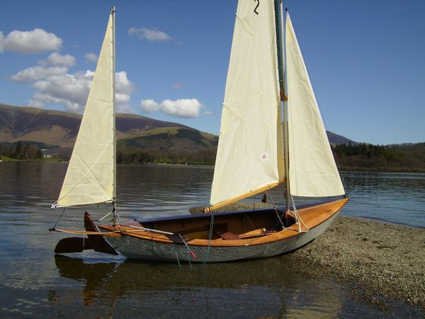 Colin's Pathfinder sailing yawl built at home