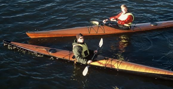 Very fast wooden kayaks that are built at home