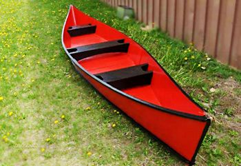Red Peace Canoe