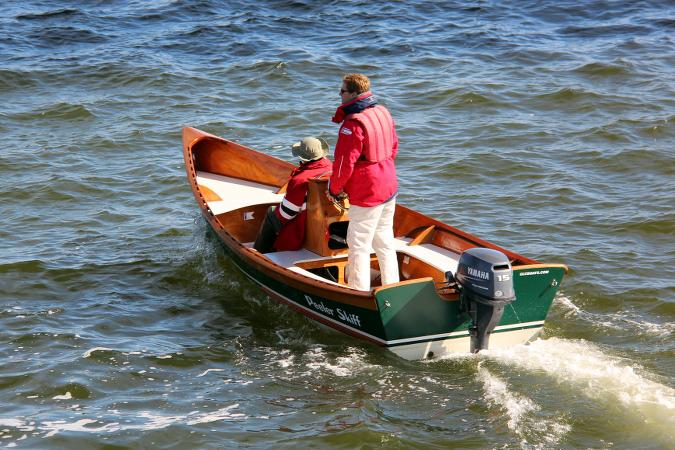 The light but sturdy Peeler motor skiff with the optional centre console