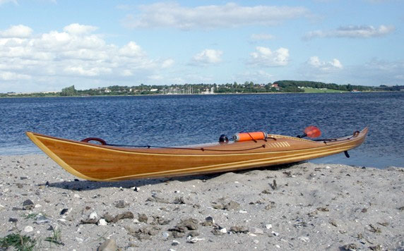 Petrel cedar strip sea kayak