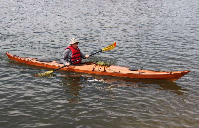 Petrel wooden stitch and glue sea kayak