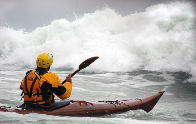 Petrel cedar strip sea kayak for rough water