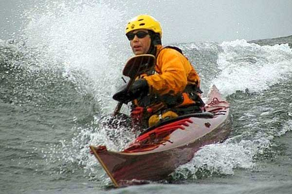 Rough water sea kayak - cedar strip Petrel