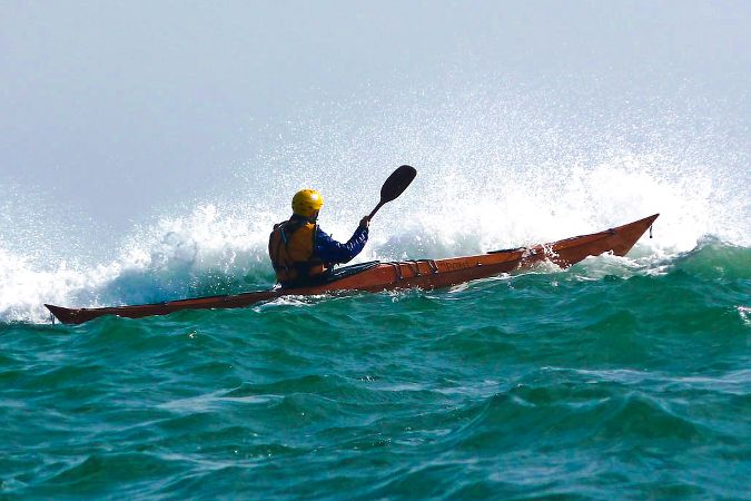 Petrel wooden sea kayak for rough water