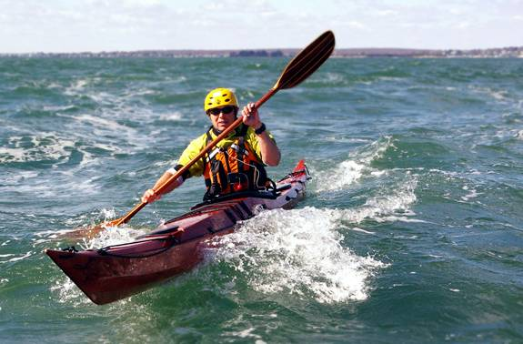 Rough water sea kayak - stitch-and-glue Petrel