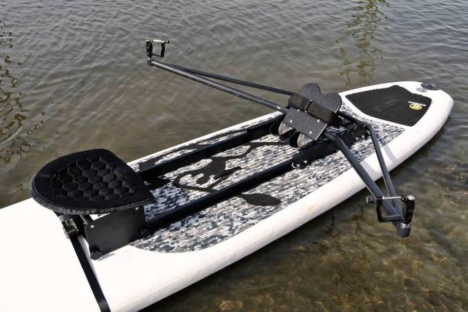 Piantedosi sliding-rigger SUP rowing unit for stand-up paddleboards
