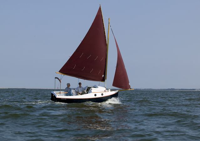 Pocketship trailer sailer built at home from a kit