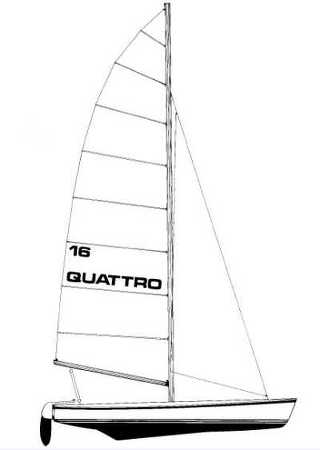 Quattro 16 racing catamaran sail plan
