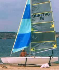 Quattro 16 racing beach catamaran by Richard Woods