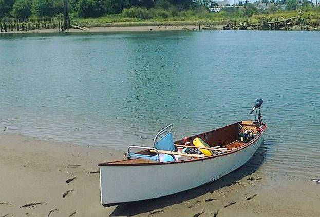 Simple home built electric Quick canoe from plans designed by Michael Storer