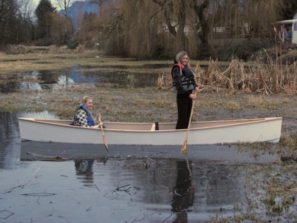 Michael Storer's Quick canoe has good stability