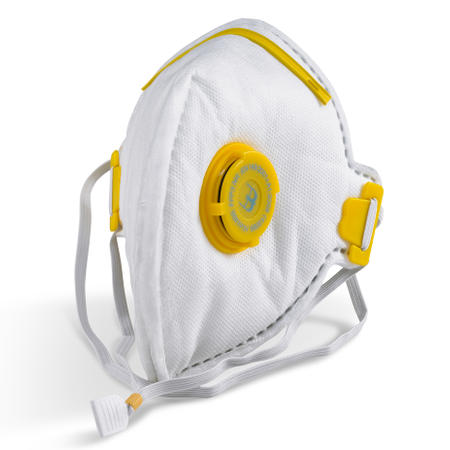 Single-use protective FFP3 valved particulate masks that are comfortable to wear without excessive heat build-up