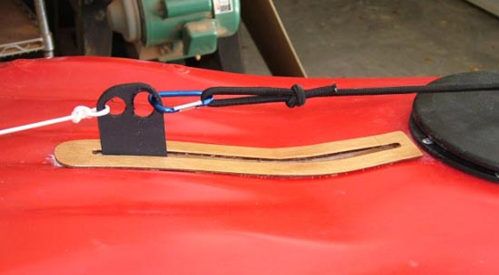 A kayak with a retractable skeg installed