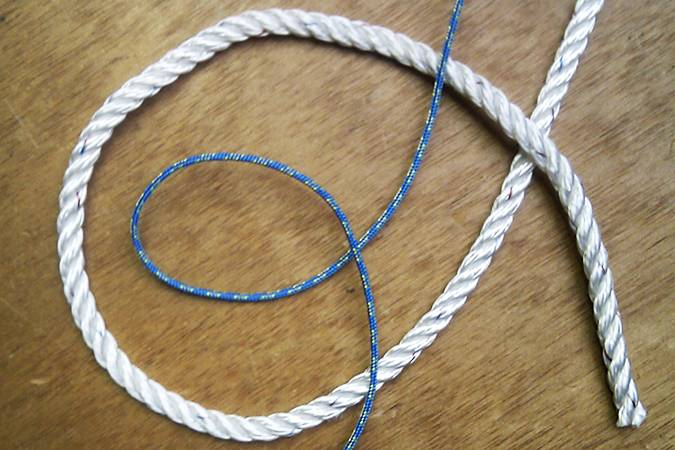 Rope for rigging a sailing boat