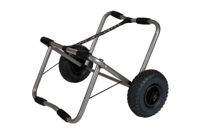 Large folding canoe trolley with a high ground clearance