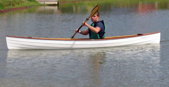 Lapstrake canoe built at home