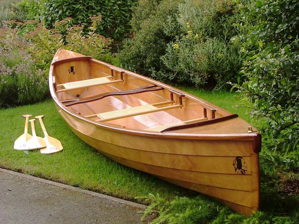 Three seats in a Sassafras home built canoe