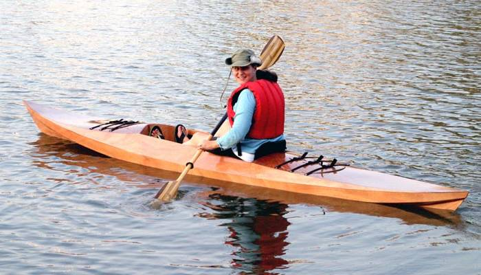 Sea Island Sport sit-on-top wooden kayak