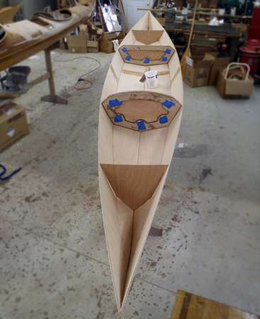 Sectional Shearwater kayak build