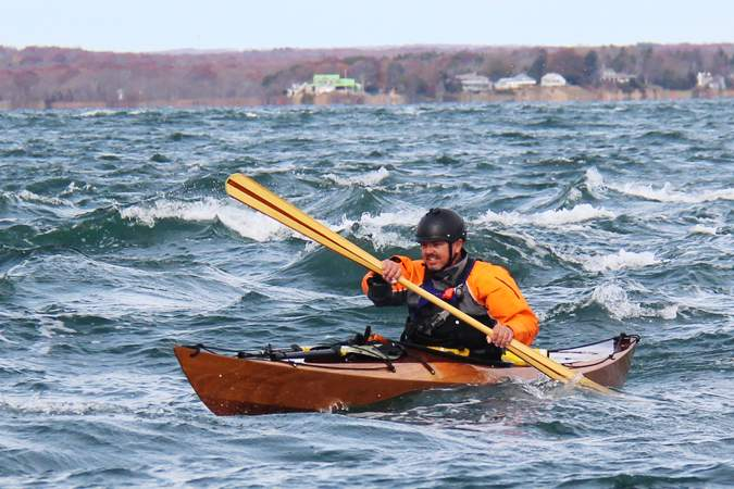 The Shearwater Sport is a compact sea kayak with manoeuvrability and advanced handling in waves