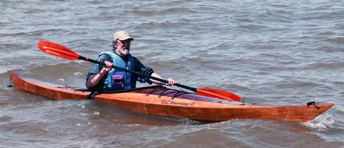 Sleek Shearwater kayak