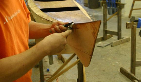 Kayak hatch and shaping a bow
