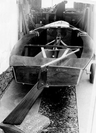 Many Signet sailing dinghies have been built in a garage over the years