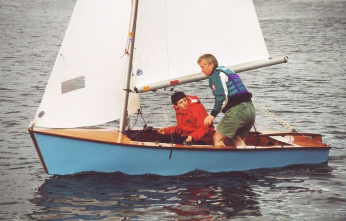 Fun sailing a Signet built from a kit by Fyne Boat Kits