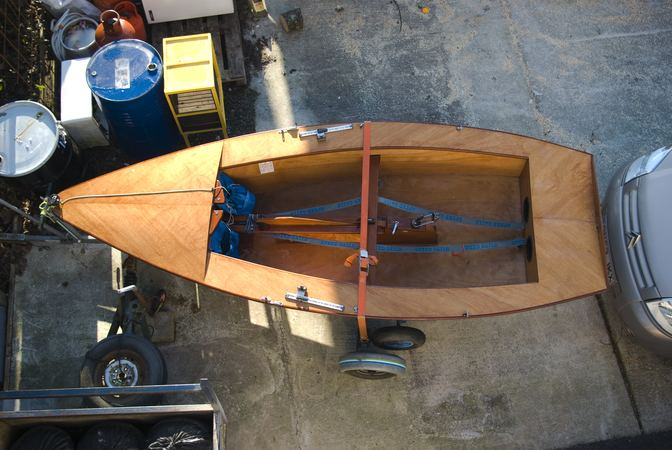 Spacious interior of a Signet dinghy