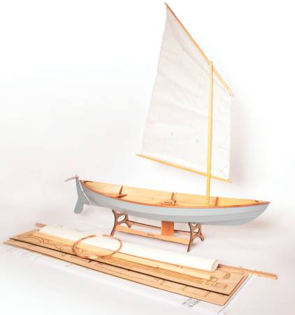 Kit contents for the scale model of the Skerry