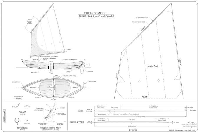 Plans for the Skerry scale model boat kit