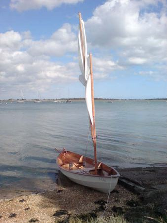 Sailing boat built from a Fyne Boat Kit