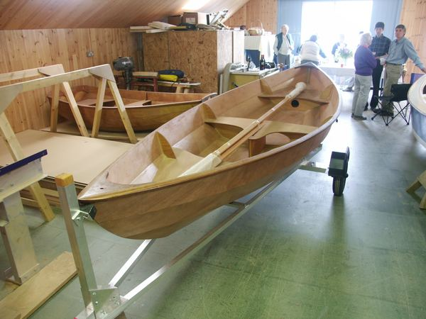 Party to launch a Skerry rowing boat