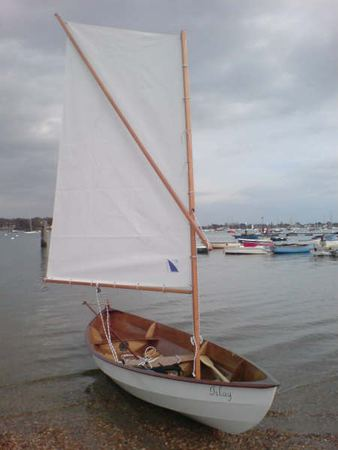 Skerry sailing boat built from a Fyne kit
