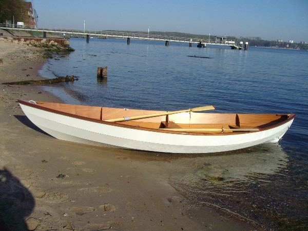 Clinker Skerry sailing and rowing boat launched