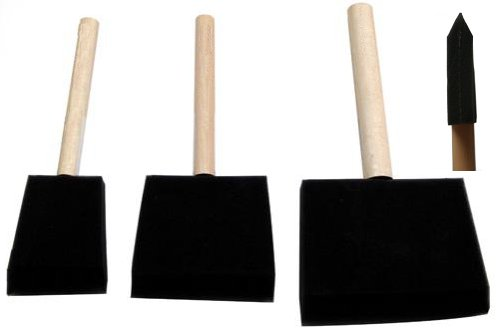 Disposable sponge brushes for paint or varnish