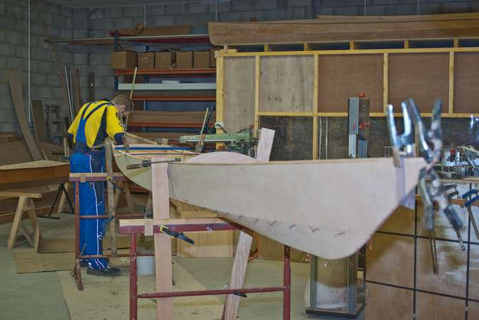 Building a sport tandem sea kayak