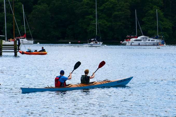 The Sport Tandem is a fast wooden kayak perfect for athletic couples