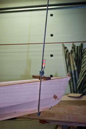 Sharp bow on a home made sea kayak