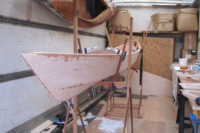 Building a Sport Tandem wooden sea kayak