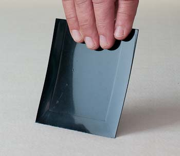 Plastic Squeegee for spreading epoxy very thinly