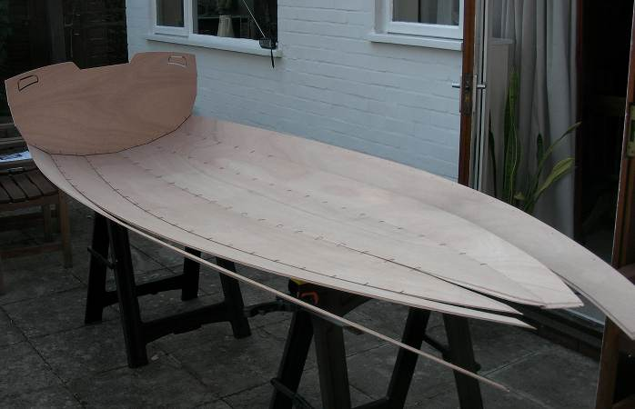 Stitch and glue dinghy building