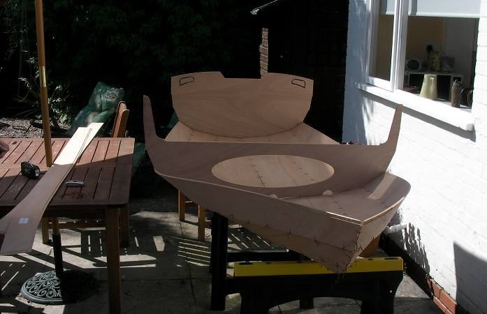 Boat building outside