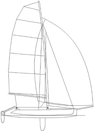 Strike 15 racing trimaran sail plan by Richard Woods
