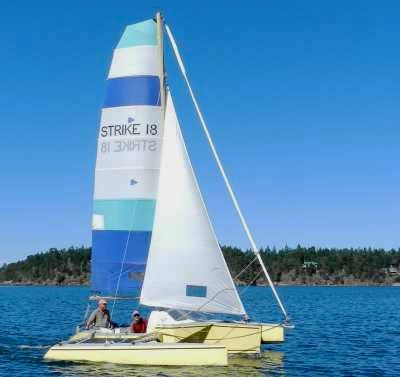 Strike 18 trimaran by Richard Woods