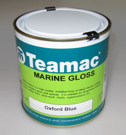 High quality Teamac marine gloss paint with excellent opacity and adhesion for finishing your boat, canoe or kayak